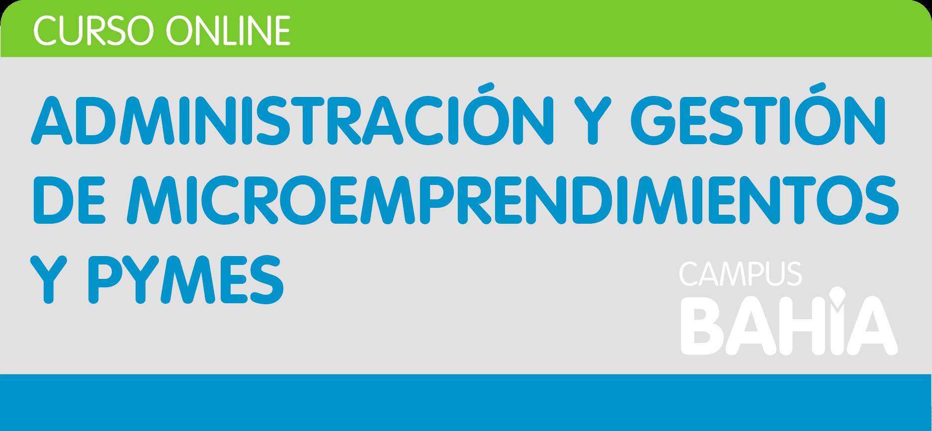 Administración y gestión de microemprendimientos y PyMEs